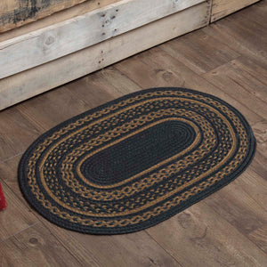 VHC Brands Patriot Navy Jute Rug Oval 20x30