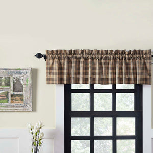 VHC Brands Farmhouse |  Window Treatments | Sawyer Mill Charcoal Plaid Valance 16x72