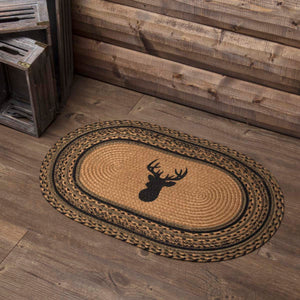 VHC Brands Trophy Mount Jute Rug Oval 20x30