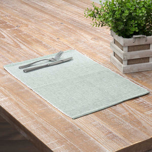 VHC Brands | Farmhouse Kitchen & Tabletop Decor | Ashton Green Ribbed Placemat Set of 6 12x18