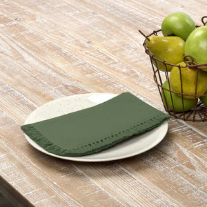 VHC Brands | Farmhouse Kitchen & Tabletop Decor | Cassidy Green Napkin Set of 6 18x18