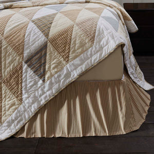 VHC Brands Farmhouse | Bedding & Pillows | Joanna Ticking Stripe Twin Bed Skirt 39x76x16