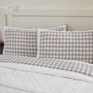 VHC Brands Farmhouse | Bedding & Pillows | Annie Buffalo Grey Check King Sham 21x37