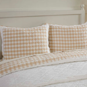 VHC Brands Farmhouse | Bedding & Pillows | Annie Buffalo Tan Check Standard Sham 21x27