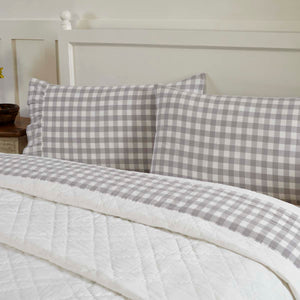VHC Brands Farmhouse | Bedding & Pillows | Annie Buffalo Grey Check Standard Pillow Case Set of 2 21x30