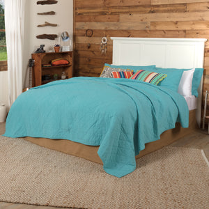 VHC Brands Southwestern | Bedding & Pillows | Pueblo Turquoise King Quilt 105x95