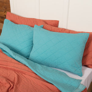 VHC Brands Southwestern | Bedding & Pillows | Pueblo Turquoise Standard Sham 21x27