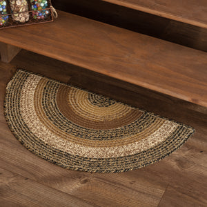 VHC Brands Kettle Grove Jute Rug Half Circle 16.5x33