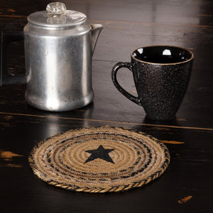 VHC Brands | Primitive Kitchen & Tabletop Decor | Kettle Grove Jute Trivet Stencil Star 8