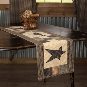 VHC Brands | Primitive Kitchen & Tabletop Decor | Kettle Grove Runner Crow and Star 13x48