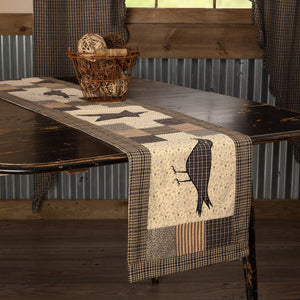 VHC Brands | Primitive Kitchen & Tabletop Decor | Kettle Grove Runner Crow and Star 13x72