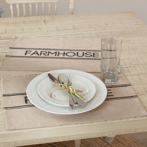 VHC Brands | Farmhouse Kitchen & Tabletop Decor | Sawyer Mill Charcoal Farmhouse Placemat Set of 6 12x18