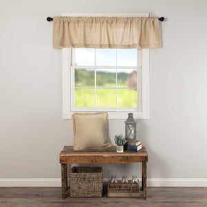 VHC Brands Farmhouse |  Window Treatments | Burlap Vintage Valance 16x72