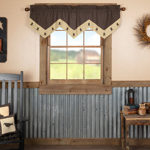 VHC Brands Primitive |  Window Treatments | Kettle Grove Star Valance 20x60