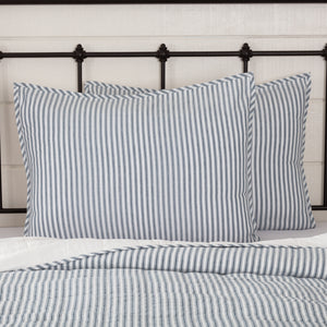 VHC Brands Farmhouse | Bedding & Pillows | Sawyer Mill Blue Ticking Stripe Standard Sham 21x27