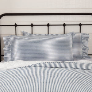 VHC Brands Farmhouse | Bedding & Pillows | Sawyer Mill Blue Ticking Stripe King Pillow Case Set of 2 21x40