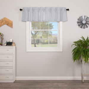 VHC Brands Farmhouse |  Window Treatments | Sawyer Mill Blue Ticking Stripe Valance 16x72