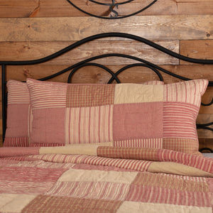 VHC Brands Farmhouse | Bedding & Pillows | Sawyer Mill Red King Sham 21x37