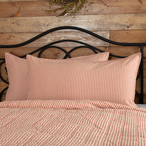 VHC Brands Farmhouse | Bedding & Pillows | Sawyer Mill Red Ticking Stripe King Sham 21x37