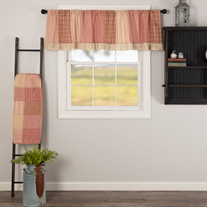 VHC Brands Farmhouse |  Window Treatments | Sawyer Mill Red Patchwork Valance 19x72
