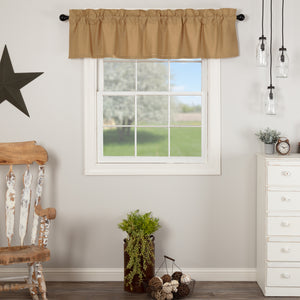 VHC Brands Farmhouse |  Window Treatments | Simple Life Flax Khaki Valance 16x72