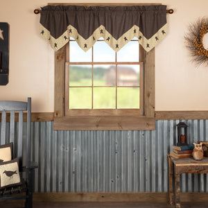VHC Brands Primitive |  Window Treatments | Kettle Grove Star Valance 20x72