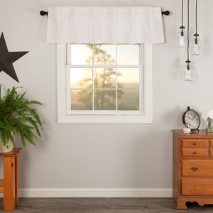 VHC Brands Farmhouse |  Window Treatments | Simple Life Flax Antique White Valance 16x60