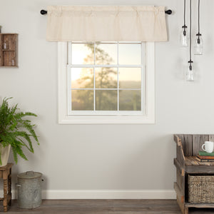 VHC Brands Farmhouse |  Window Treatments | Simple Life Flax Natural Valance 16x60
