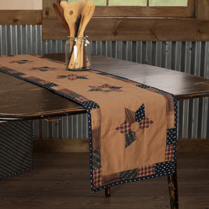 VHC Brands | Primitive Kitchen & Tabletop Decor | Patriotic Patch Runner 13x90