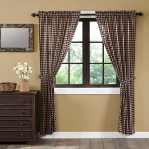 VHC Brands Classic Country |  Window Treatments | Bingham Star Panel Plaid Set of 2 84x40