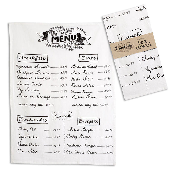 Menu Tea Towel - Box of 4