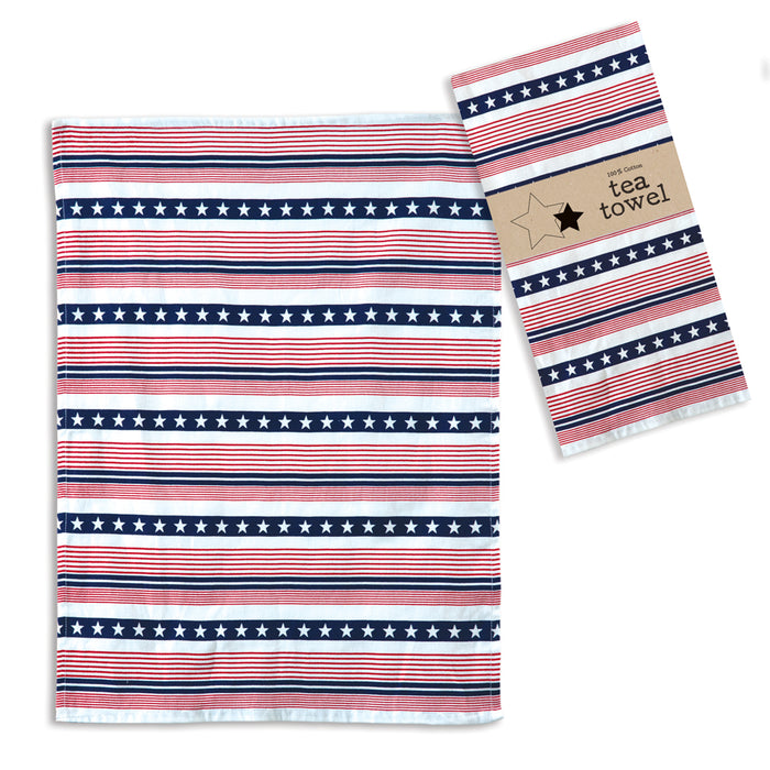 Americana Tea Towel - Box of 4