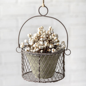 Buy the Small Hanging Pot with Wire Basket from our home decor collection