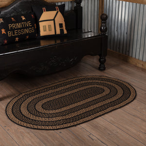 VHC Brands Farmhouse Jute Rug Oval 36x60