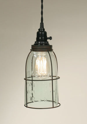 Shop Half Gallon Caged Mason Jar Pendant Lamp