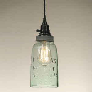 Shop Half Gallon Open Bottom Mason Jar Pendant Lamp - Barn Roof