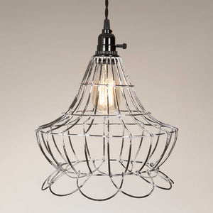 Shop Wire Scallop Bell Pendant Lamp