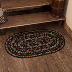 VHC Brands Farmhouse Jute Rug Oval 24x36
