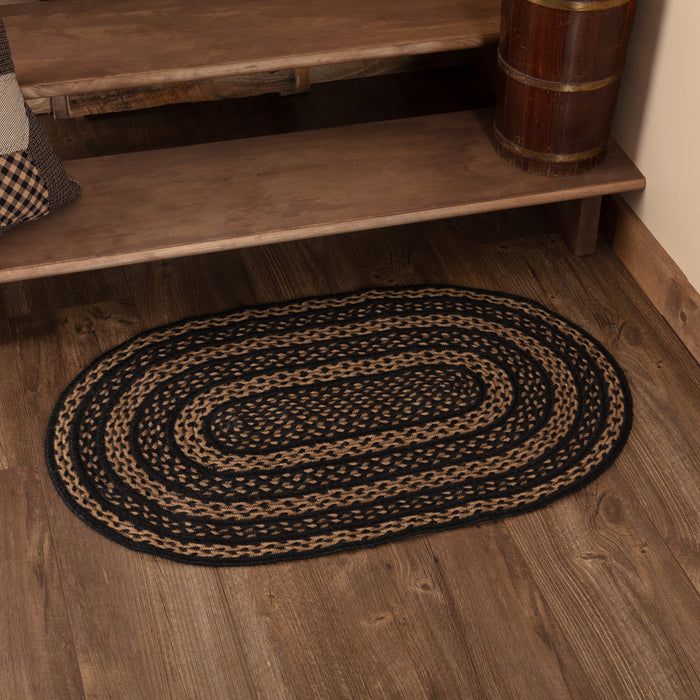 Farmhouse Jute Rug Oval 24x36