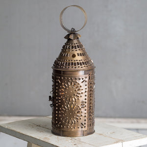 Antique Brass Paul Revere Candle Lantern