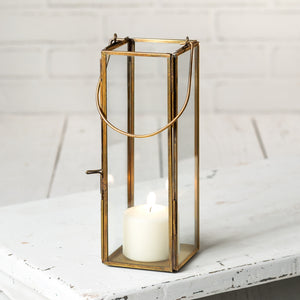 Antique Brass Thin Hayworth Lantern