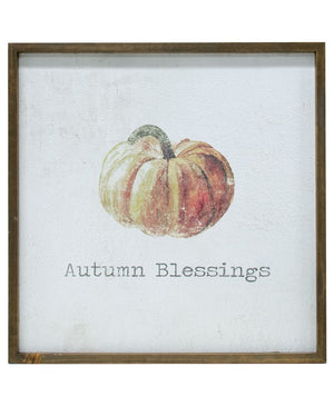 Autumn Blessings - Framed Watercolor Wall Art 20""