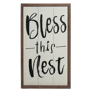 Bless this Nest Wooden Sign