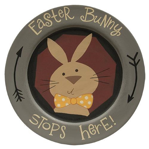 Bunny Stops Here Plate