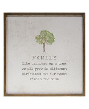 Family - Framed Watercolor Wall Art 20""