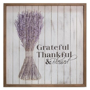 Grateful Framed Shiplap Sign