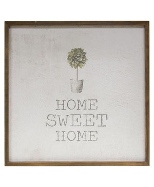 Home Sweet Home - Framed Watercolor Wall Art 20""