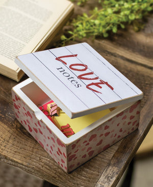 Wood Storage Love Notes Box