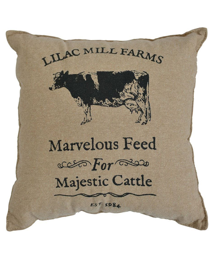 """Marvelous Feed For Majestic Cattle"" Throw Pillow"