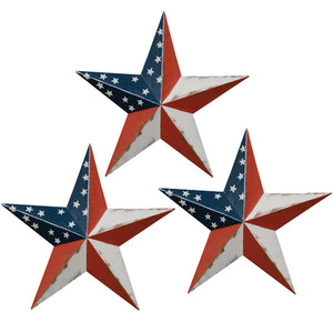 Rustic Americana Barn Star - Set of 3